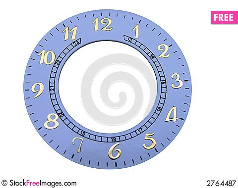 Free Genuine Clock Face Royalty Free Stock Photography - 2764487