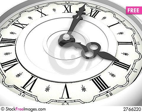 Free Clock. Three O Clock Stock Photo - 2766220