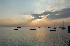 Free Yacht Sunrise Stock Images - 2760594