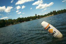 Free Swim Area Buoy Lake Scene Stock Photos - 2762263