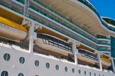 Cruise Ship Hull & Balconies. Stock Images