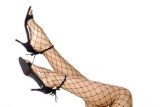 Long Legs In Bodystocking Royalty Free Stock Image