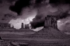 Free Passing Storm, Monument Valley Stock Photo - 2763420