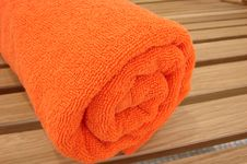 Free Towel Braided In A Tubule Royalty Free Stock Photography - 2764267