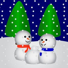 Free Happy Snowfriends Making A New Royalty Free Stock Photo - 2764395
