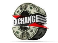Currency Exchange. Dollar Royalty Free Stock Image