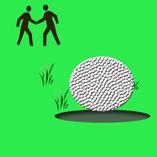 Free Golf Game Illustrated Stock Photography - 2768092