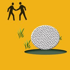 Free Golf Game Illustrated Stock Photos - 2768093