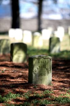 Free Civil War Headstone Royalty Free Stock Photo - 2768095