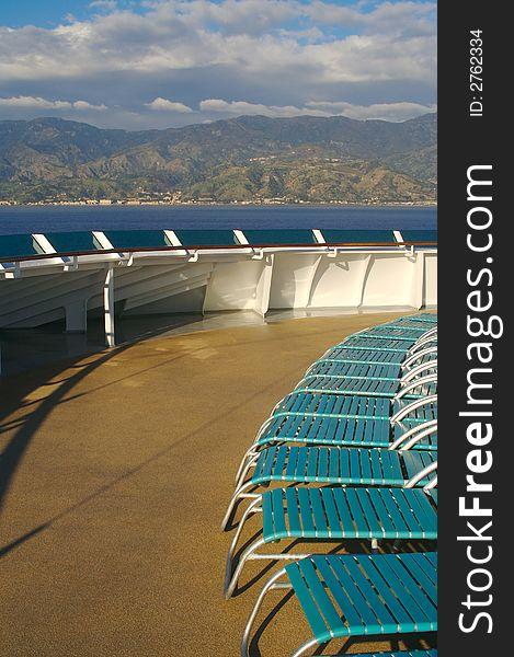 Cruise Ship Deck Abstract.