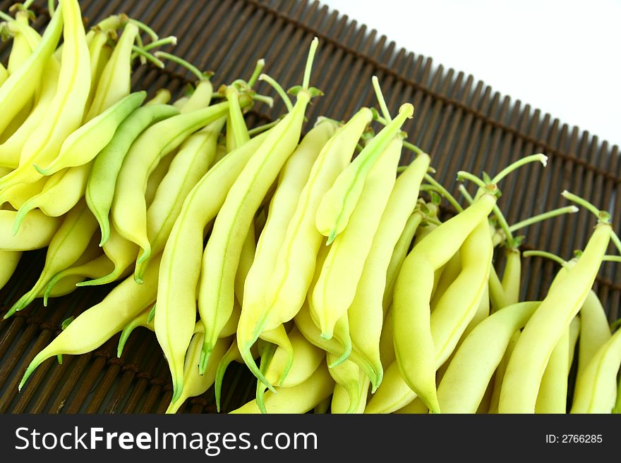 String yellow beans