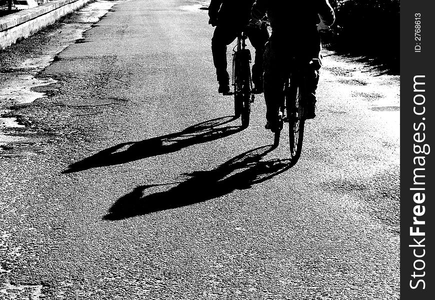 Two bicycles in B/W