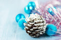 Free Christmas Decoration With Cone Royalty Free Stock Photos - 27603638