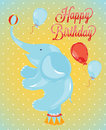 Free Birthday Card Circus Elephant Royalty Free Stock Photography - 27605517