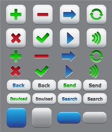 Application Icons Color Set Stock Photo