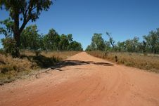 Free Australian Outback Road, Queensland Royalty Free Stock Image - 27602146