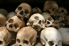 Free Skulls - Killing Fields, Cambodia Stock Photos - 27602183