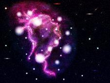 Free Big Pink Nebula Royalty Free Stock Image - 27606246