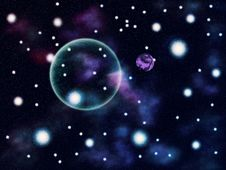 Colorful Space Background Royalty Free Stock Photography