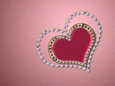 Free Heart Of Pearls Royalty Free Stock Photo - 27606385