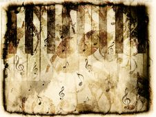 Free Vintage Piano Background Royalty Free Stock Photo - 27606505