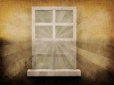 Free Window On Grunge Background Royalty Free Stock Photos - 27606608