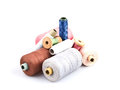 Free Several Cones Of Colored Thread Royalty Free Stock Image - 27611936