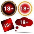 Free Eighteen Plus Set Stock Image - 27614761