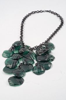 Free Ecojewelry Necklace From Recycled Plastic Bottles Royalty Free Stock Photos - 27613168