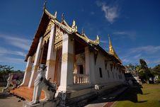 Free Sanctuary-Wat Chang Kham. Stock Images - 27613654