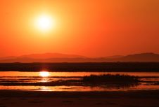 Free Sunset Over Marsh Royalty Free Stock Images - 27614899