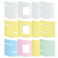 Free 2013 Colorful Paper Note Stickers. Stock Photos - 27615193