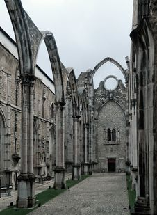 Carmo Convent &x28;Lisbon&x29; Stock Image