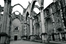 Carmo Convent In Lisbon Royalty Free Stock Photography