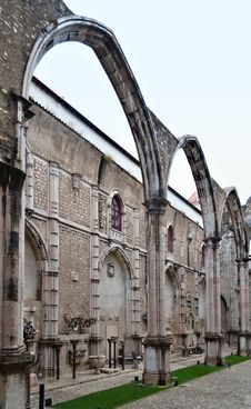 Carmo Convent In Lisbon, Portugal Stock Photography