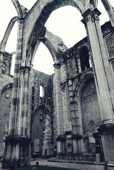 Free Gothic Arcade In Lisbon Stock Image - 27616821