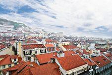 Lisbon, View To The Alfama Stock Photos