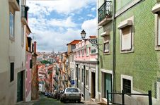 Old Lisbon Street Royalty Free Stock Photo