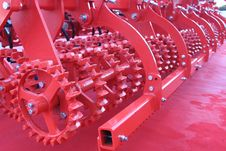 Free Red Giant Farming Plough Stock Photography - 27619482