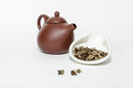 Free Traditional Chinese Oolohg Tea With A Clay Teapot Stock Image - 27622151