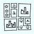 Free Hand Draw City Map ,zoning . Royalty Free Stock Images - 27623479