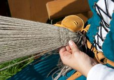 Free Hands Of Weaving Woman Stock Photography - 27625522