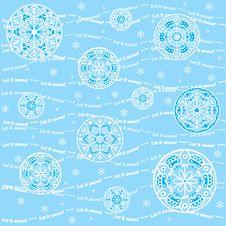 Seamless Snowflakes Background - Let It Snow Stock Photos