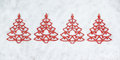 Free Four Decorative Christmas Tree Closeup. Stock Photos - 27631393