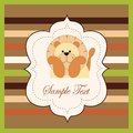 Free Bright Card With A Lion Royalty Free Stock Photography - 27635087