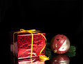 Free Gift,Christmas Ball On The Branch Of A Tree Royalty Free Stock Image - 27638216