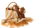 Free New Year Greeting Card With Teddy Bear . Stock Image - 27639741