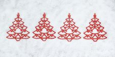Free Four Decorative Christmas Tree Closeup. Stock Photos - 27631393
