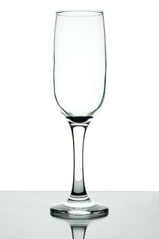 Empty Wine Glass On A Leg. Stock Photo