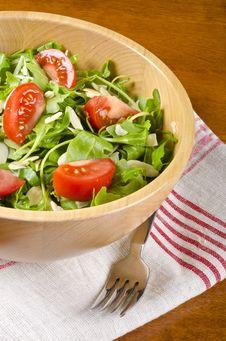 Bowl Of Arugula Salad 2 Stock Photos